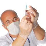 injektionsspruta Fotografering för Bildbyråer