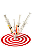 injektionssprutamål arkivfoto