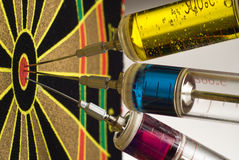 injektionssprutor target tre Royaltyfri Bild
