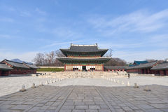 Injeongjeon in Changdeokgung palace royalty free stock images