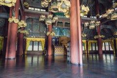 Injeongjeon Corridoio del palazzo di Changdeokgung Fotografia Stock Libera da Diritti