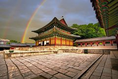 Injeongjeon Hall, royal palace building, Seoul, Korea