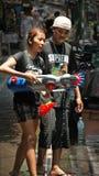 Injetor de água do festival 5 da água de Tailândia. Imagens de Stock Royalty Free