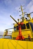 Injetor de água em um barco do incêndio Fotografia de Stock