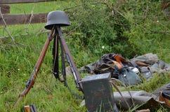 Injetores históricos atrasados no prado. Fotografia de Stock Royalty Free