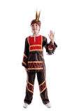 Injun folk traditional carnival costume Stock Photos