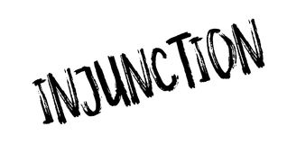 Injunction rubber stamp Royalty Free Stock Photo