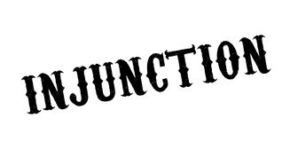 Injunction rubber stamp Royalty Free Stock Image