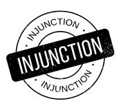 Injunction rubber stamp Royalty Free Stock Images