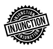 Injunction rubber stamp Stock Images