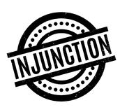 Injunction rubber stamp Stock Photos