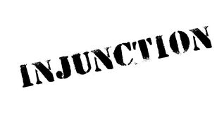 Injunction rubber stamp Royalty Free Stock Photos