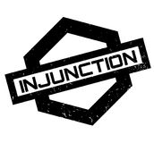 Injunction rubber stamp Stock Photography