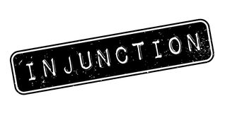 Injunction rubber stamp Stock Image