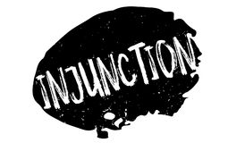 Injunction rubber stamp Stock Photo