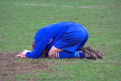 Injured. Footballer Royalty Free Stock Photography