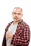 Injured adult man stock photography