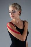 Injured ballet dancer Stock Image