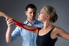 Injured ballet dancer Stock Images