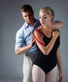 Injured ballet dancer Royalty Free Stock Photography