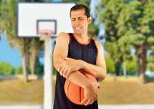 Injured Baskeball Player Royalty Free Stock Images