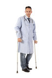 Injured caucasian man doctor Stock Photography