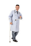 Injured caucasian man doctor Royalty Free Stock Images