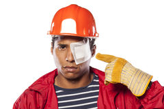 Injured construction worker Stock Photos