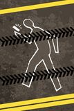 Injured crossing a road with telephone Stock Photo