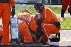 Injured driver Royalty Free Stock Image