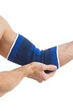 Injured elbow. Royalty Free Stock Image