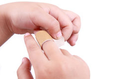 Injured finger Stock Image