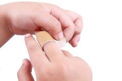Injured finger stock image