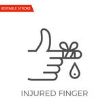 Injured Finger Vector Icon. Injured Finger Thin Line Vector Icon. Flat Icon Isolated on the White Background. Editable Stroke EPS file. Vector illustration Stock Photo