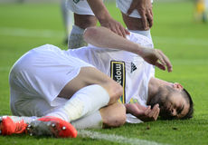Injured football player Stock Photography