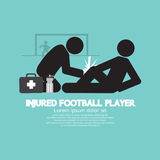 Injured Football Player. Royalty Free Stock Photography