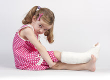 Injured girl Royalty Free Stock Photography