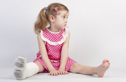 Injured girl Stock Photography