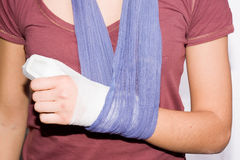 Injured hand Stock Photos