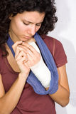 Injured hand Stock Images