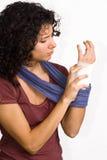 Injured hand Stock Photography