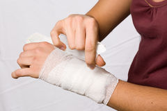 Injured hand Royalty Free Stock Image