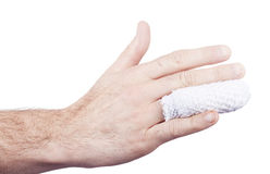 Injured hand medical Stock Photography