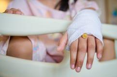 Injured hand Stock Photo
