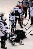 Injured hockey player Royalty Free Stock Photography