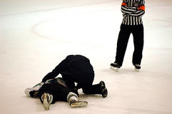 Injured hockey player Stock Photos