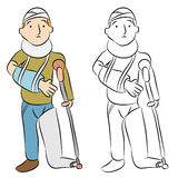 Injured Man. An image of a injured man vector illustration