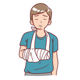 Injured man. Illustration of an injured man vector illustration