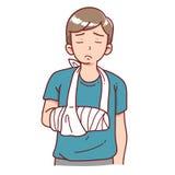 Injured man Stock Image