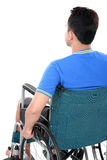 Injured man in wheelchair Royalty Free Stock Photography